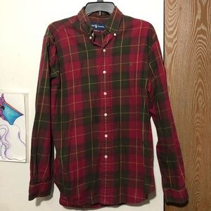 Ralph Lauren Plaid Long Sleeve Button Up